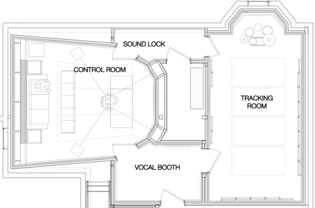 Recording Studio Floor Plan