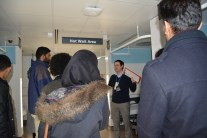 Students visiting PET Centre