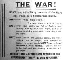 1914 Nov 27th Lynn Advertiser
