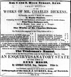 1847 March 27th Thew (Charles Dickens )