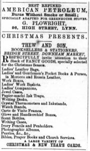 1875 December 25th Thew & Son @ Nos 1 & 2