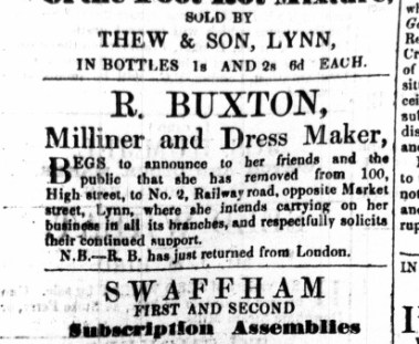 1863 Oct 24th R Buxton moves out of No 100