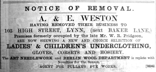 1900 Dec 7th A & E Weston