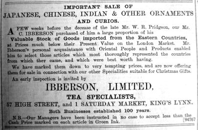 1900 Nov 30th Ibberson sells Pridgeons