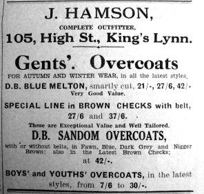 1933 Nov 17th J Hamson