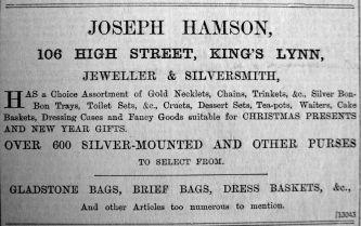 1903 Dec 18th Joseph Hamson
