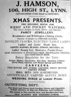 1936 Dec 11th J Hamson