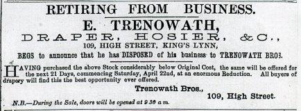1882 6th May Edward Trenowath retiring @ No 109011