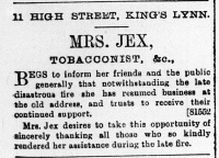 1897 Dec 31st Mrs Jex @ No 11