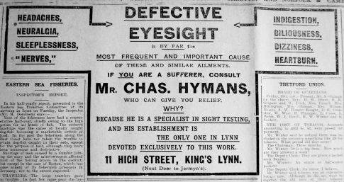 1915 Oct 22nd Chas Hyman