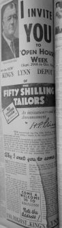 1932 Sept 30th Fifty Shillings Tailor opens