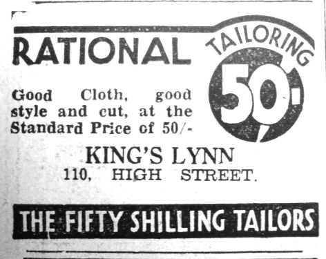 1937 Feb 19th Fifty Shilling Tailors