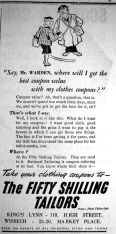 1942 Mar 6th Fifty Shilling Tailor