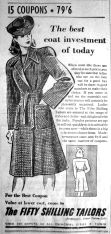 1943 Sept 10th Fifty Shilling Tailors