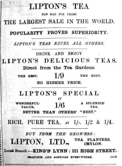 1906 May 18th Liptons