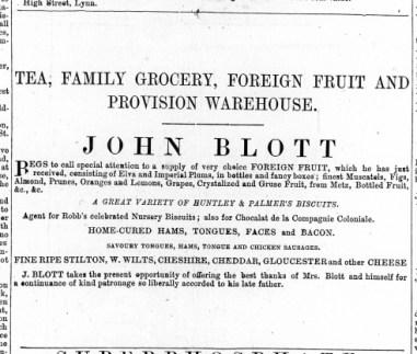 1869 Dec 11th John Blott @ No 114