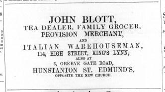 1871 July 22nd John Blott @ No 114