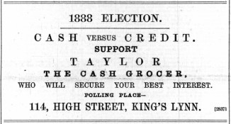 1888 January 21st C H Taylor @ No 114