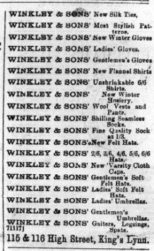 1896 Oct 21st W Winkley @ Nos 115 & 116