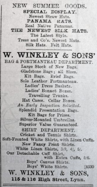 1903 May 15th W Winkley