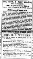1855 Sept 29th Miss Jones @ No 116