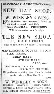 1890 Mar 15th W Winkley