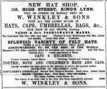 1890 March 29th W Winkley opens @ No 116