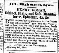 1848 Feb 12th Henry Roman @ 117