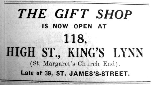 1933 July 14th The Gift Shop opens