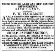 1866 April 14th F W Plowright moves into No 119