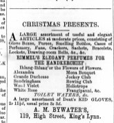 1872 Dec 21st A M Bywater @ No 119