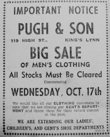 1951 Oct 12th Pugh & Sons