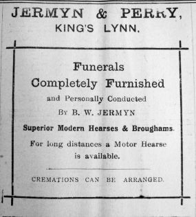 1924 Jan 11th Jermyn & Perry funerals