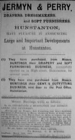 1924 Mar 21st J & P take over Buntings @ Hunston