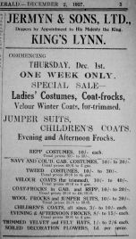 1927 Dec 2nd Jermyn & Sons Ltd first ad