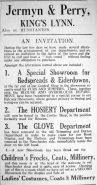 1927 Nov 11th Jermyn & Perry new depts