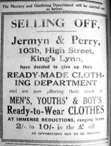 1927 Nov 11th Jermyn & Perry selling 103b