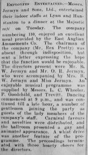 1929 Mar 22nd Jermyn & Sons staff party