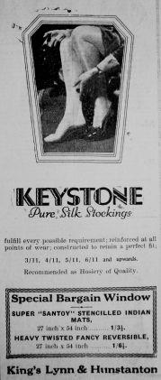 1930 Feb 14th Jermyns silk stockings 2