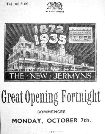 1935 Oct 4th Jermyns Gt opening