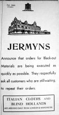 1939 Sept 1st Jermyns blackout material
