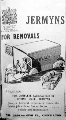 1951 Dec 28th Jermyns removals