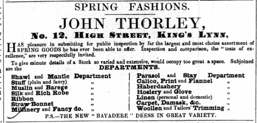 1853 April 23rd John Thorley @ No 12