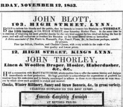 1853 Nov 12th John Thorley @ 12
