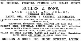 1883 6th Jan Bullen & Sons