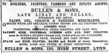 1887 January 1st Bullen & Sons @ No 120