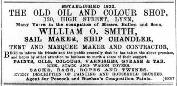 1891 November 28th W O Smith @ No 120
