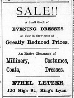 1923 Jan 19th Ethel Letzer @ 120