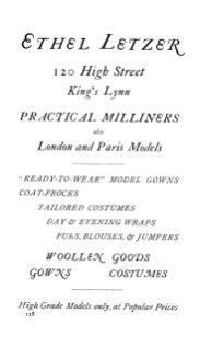 1924 Ethel Letzer (Holcombe Ingleby Treasures of Lynn)