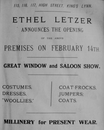 1925 Feb 13th Ethel Letzer moves out